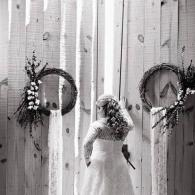 Our rustic barn doors create the perfect backdrop for stunning wedding photos!